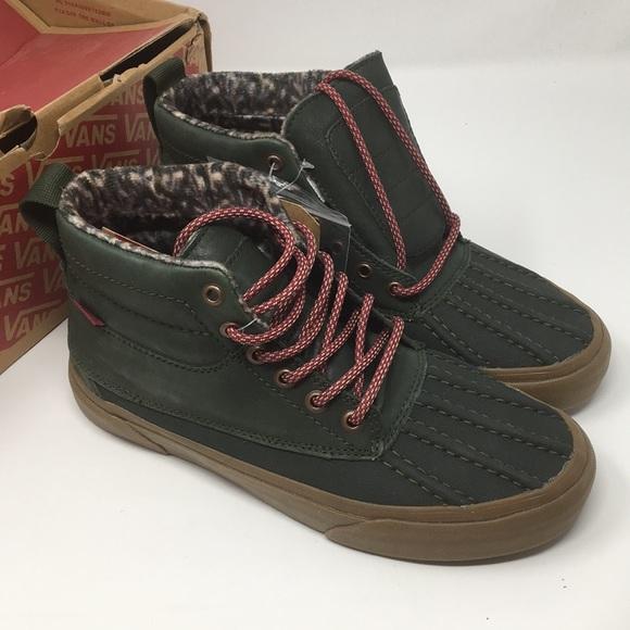 ef106bfbcf VANS SK8 Hi Del Pato All Weather Shoes Size 7.5
